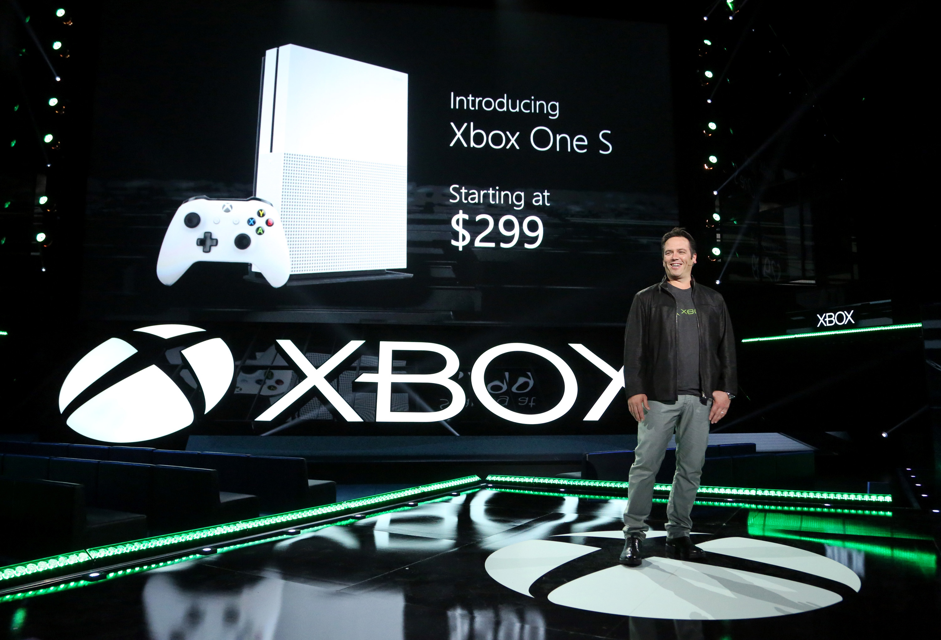 A speaker is seen at the Xbox E3 2016 Briefing Rehearsal on Sunday, June 12, 2016 in Los Angeles. (Photo by Casey Rodgers/Invision for Microsoft/AP Images)