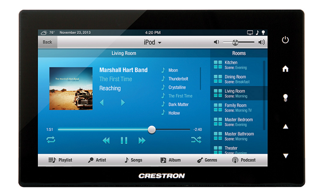crestron touch screen