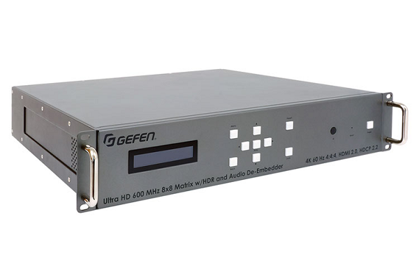 Gefen now shipping 4K Ultra HD 600 MHz 8x8 Matrix