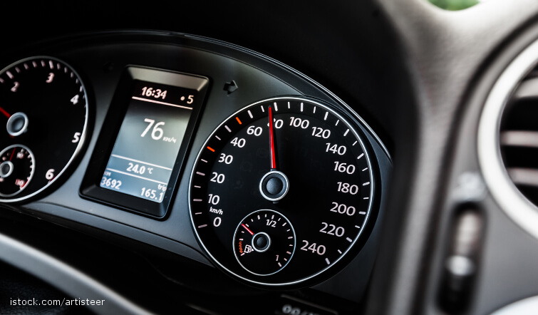 Closeup of Dashboard Instruments