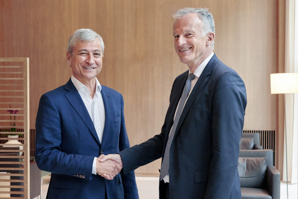 Jean-Philippe Courtois, EVP and president, Microsoft Global Sales, Marketing & Operations and Christof Mascher, COO and member of the Board of Management of Allianz SE