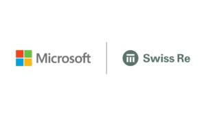Logos for Microsoft and Swiss Re